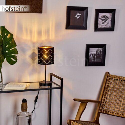 Stoff Nacht Tisch Lampen Lese Leuchten schwarze Schlaf Wohn Zimmer Beleuchtung