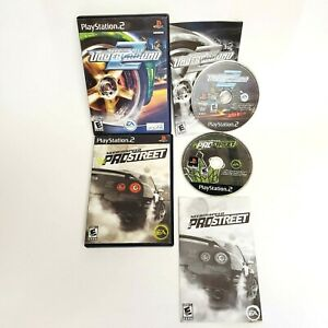 Need for Speed Underground 2 and Pro Street PlayStation 2 PS2 Game Bundle Lot