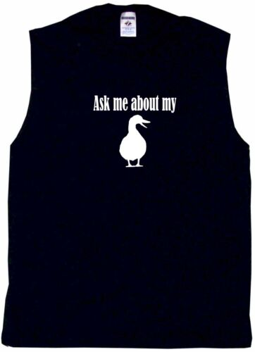Ask Me About My Duck Logo Mens Tee Shirt Pick Size /& Color Small 6XL