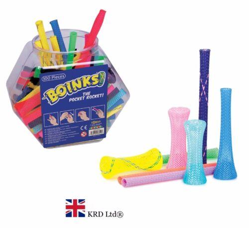 BOINKS Finger Trap Kids Novelty Games Fidget Party Bag Filler Favors Toy Gift UK