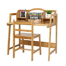 Learning Desk Study Table Set With Chair Amp 2tiers Book Storage For Kids Writing