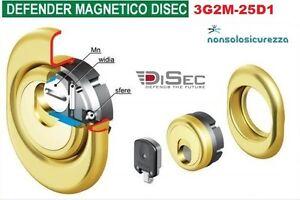 Disec defender magnetico 3g2m 25d1 serratura cilindro for Serratura defender