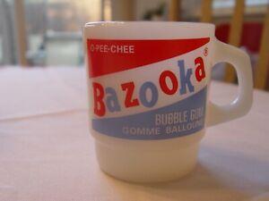Fire-King Bazooka O-Pee-Chee Bubble Gum Advertising Coffee Mug