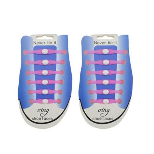 12pcs Luminous Shoe Laces Silicone Shoelace Magic Sneakers Shoestring Easy Use