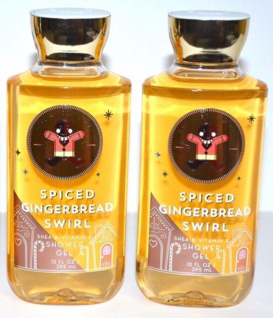 2 Bath & Body Work Spiced Gingerbread Swirl Shower Gel