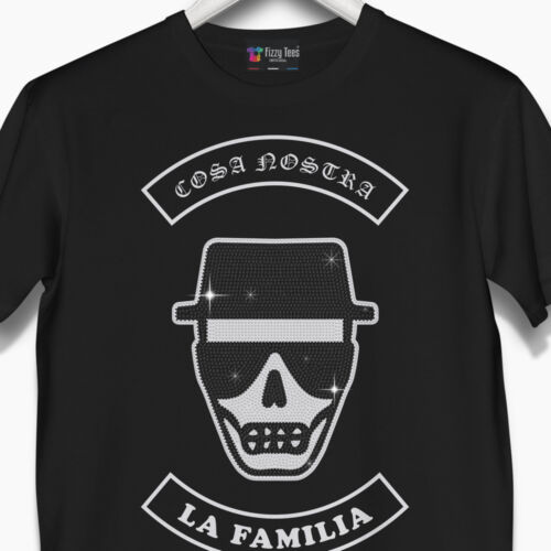 Men/'s Cosa Nostra Crystallized T-Shirt Brand New was £49.99