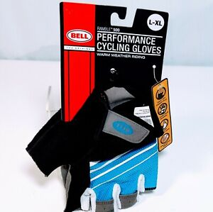 Bell-Ramble-500-Half-Finger-Performance-Cycling-Gloves-Blue-White-L-XL