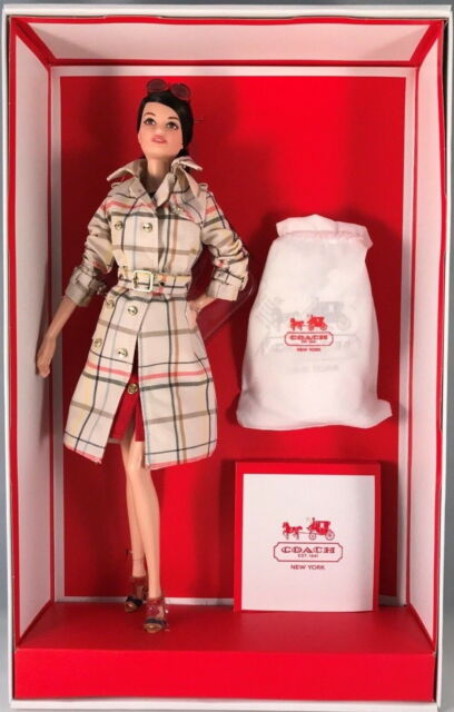 NIB COACH Barbie Designer Collection Gold Label Limited 2013 Barbie Doll