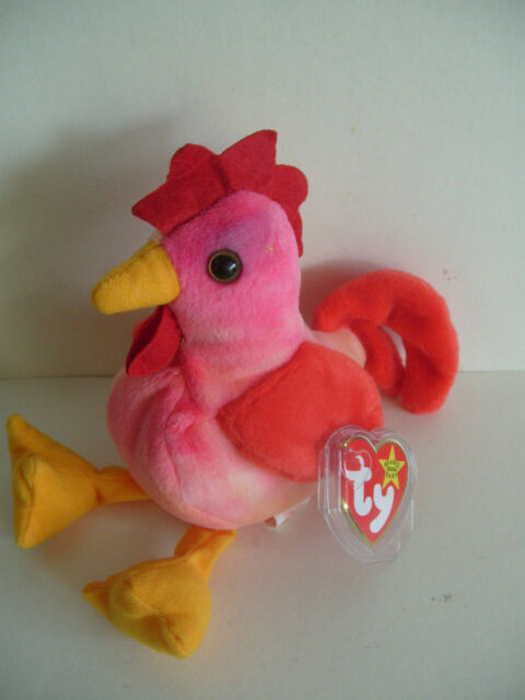c3112d87e8d RARE TY Beanie Babies - Strut The Rooster 1996 Retired MINT Tags ...