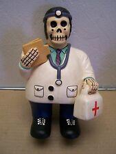 Day of the Dead Clay Skeleton Chubby Doctor Medico Dia de los Muertos - Peru