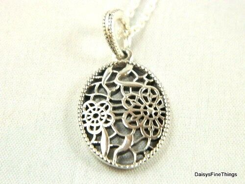 ffcd63029 NEW/TAGS AUTHENTIC PANDORA NECKLACE FLORAL DAISY LACE #390383-60 RETIRED