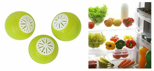 3 Éco boules pour réfrigérateur contre les  mauvaises odeurs ecologique