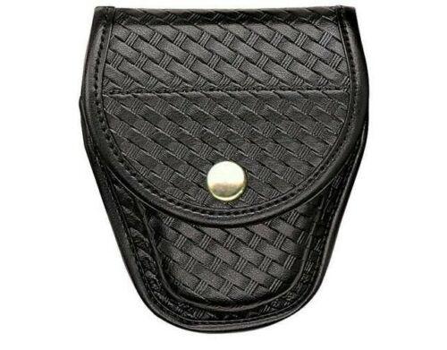 Bianchi 22181 AccuMold Elite Covered Basketweave Handcuff Case w//Brass Snap