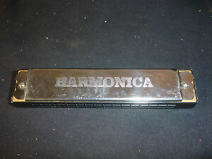 Old-Vtg-Collectible-Harmonica-Music-Musical-Instrument