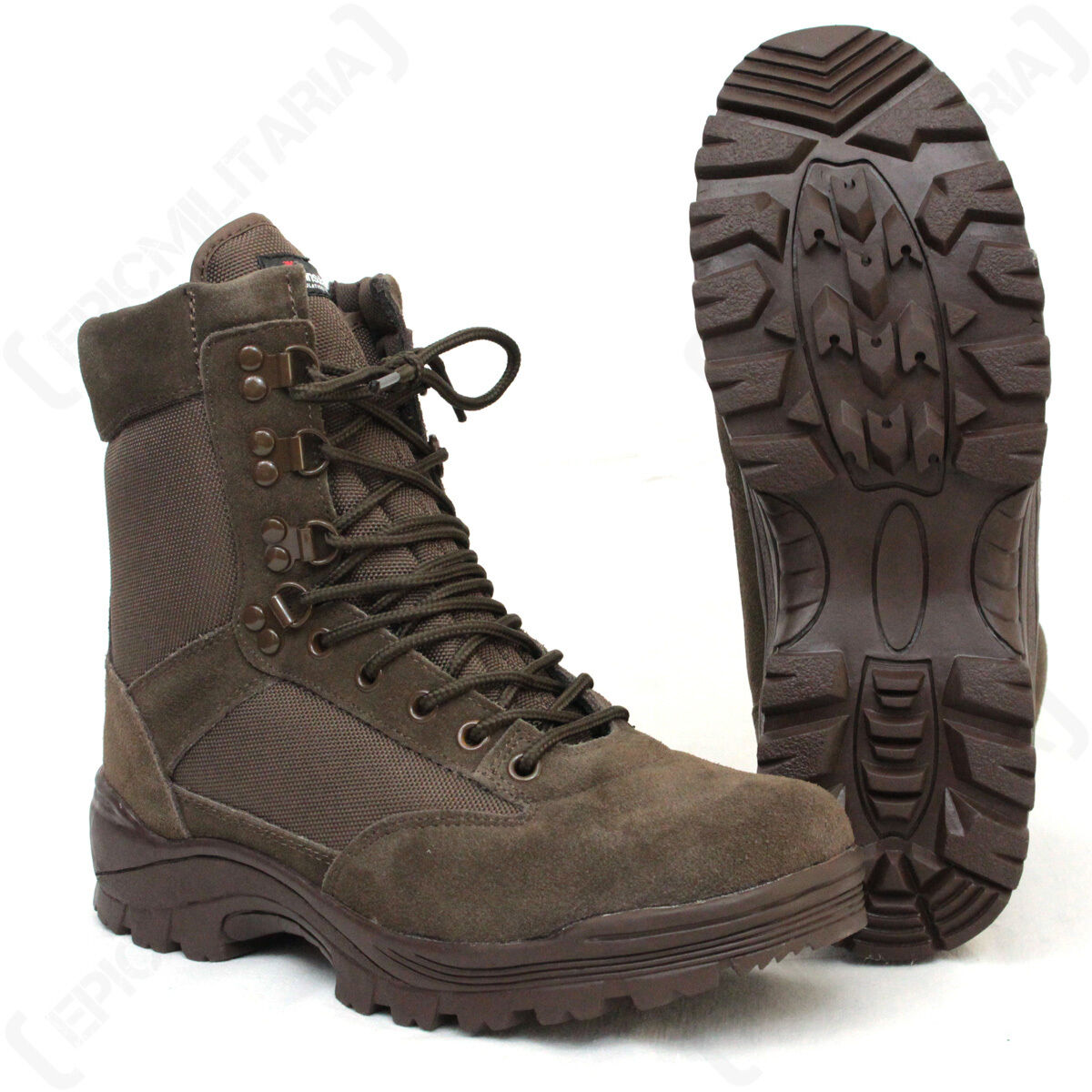 Brown Tactical Army Boot with YKK Zipper - Boots Shoes Military Outdoor Army New