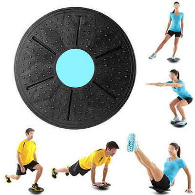 360° Yoga Wobble Balance Board Stability Disc Waist Wriggling Round Plate Sports