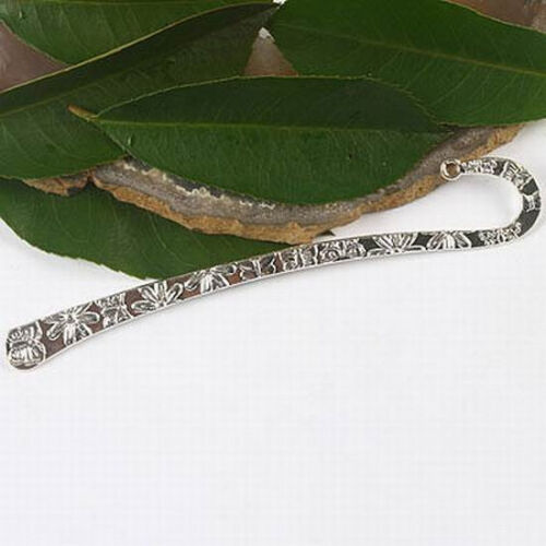 2pcs sliver tone Flower /& Butterfly Bookmark h1005