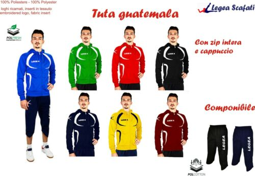 Tuta guatemala Legea Cappuccio Sport Uomo Bambino Allenamento Pinocchietto