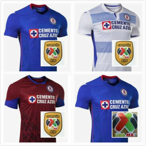 And The LIGA MX Patch New 2020-21 Cruz Azul Home//Away Soccer Jersey Shirt S-XXL