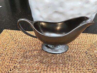 Juliska Pewter Stoneware Sauce Boat PartialUpdate