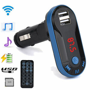 Bluetooth Wireless FM Transmitter MP3-Player Freisprecheinrichtung USB TF SD Fer