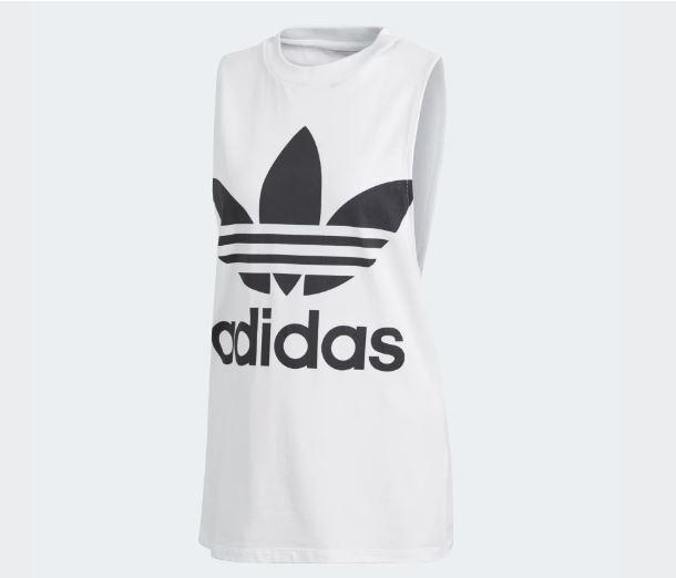83055c50d623de Adidas Trefoil Tank Top 95% Cotton White   Black Size Extra Small Womens  CE5580