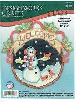 Welcome Snowman Wall Hanging Plastic Canvas Kit Nip (887)