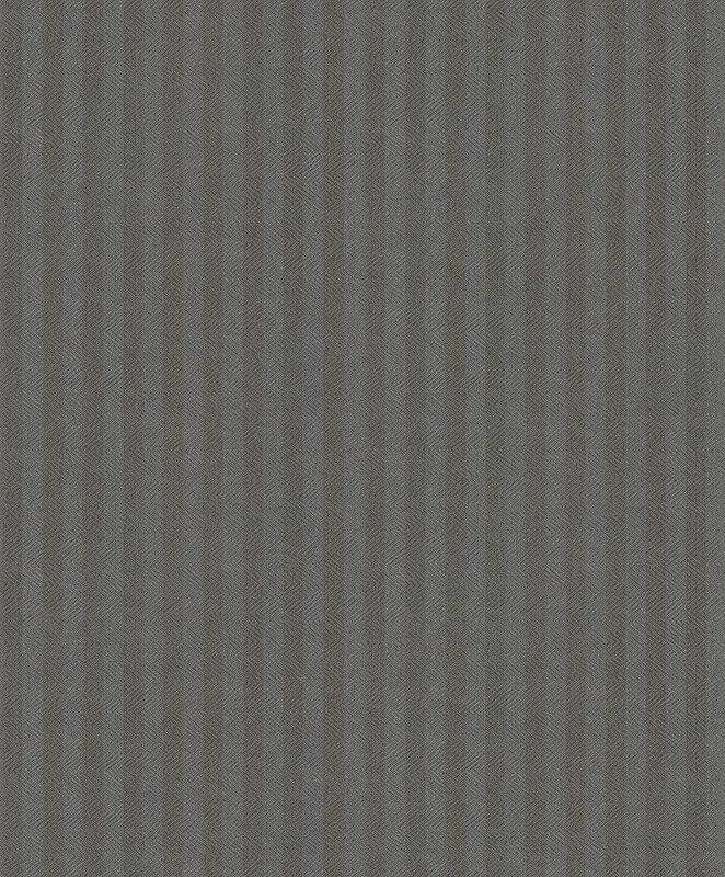 Tapete, Designtapete, VLIES, Prägung, Streifen, Bänder, Smokey Grey, silver
