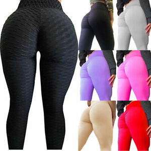 Women Anti Cellulite Compression Leggings Butt Lift Scrunch Yoga Pants Plus Size Ebay