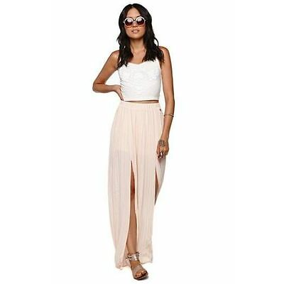 NEW Kendall and Kylie Jenner Pleated Maxi Light Pink Long Skirt (S, M, L)