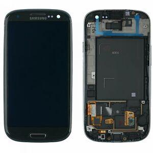 Original-Samsung-Galaxy-S3-GT-i9300-Display-Modul-Rahmen-Grau-Titan-GH97-13630F