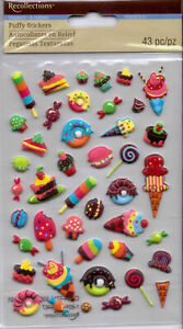 Recollections-PUFFY-Stickers-Ice-Cream-Varieties-Mini-Desserts-Sweet-Treats