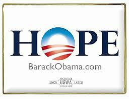 Official Barack Obama HOPE Lapel Pin