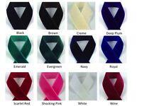 1/4 Velvet Ribbon - Select Color And Length - Nylon Velvet