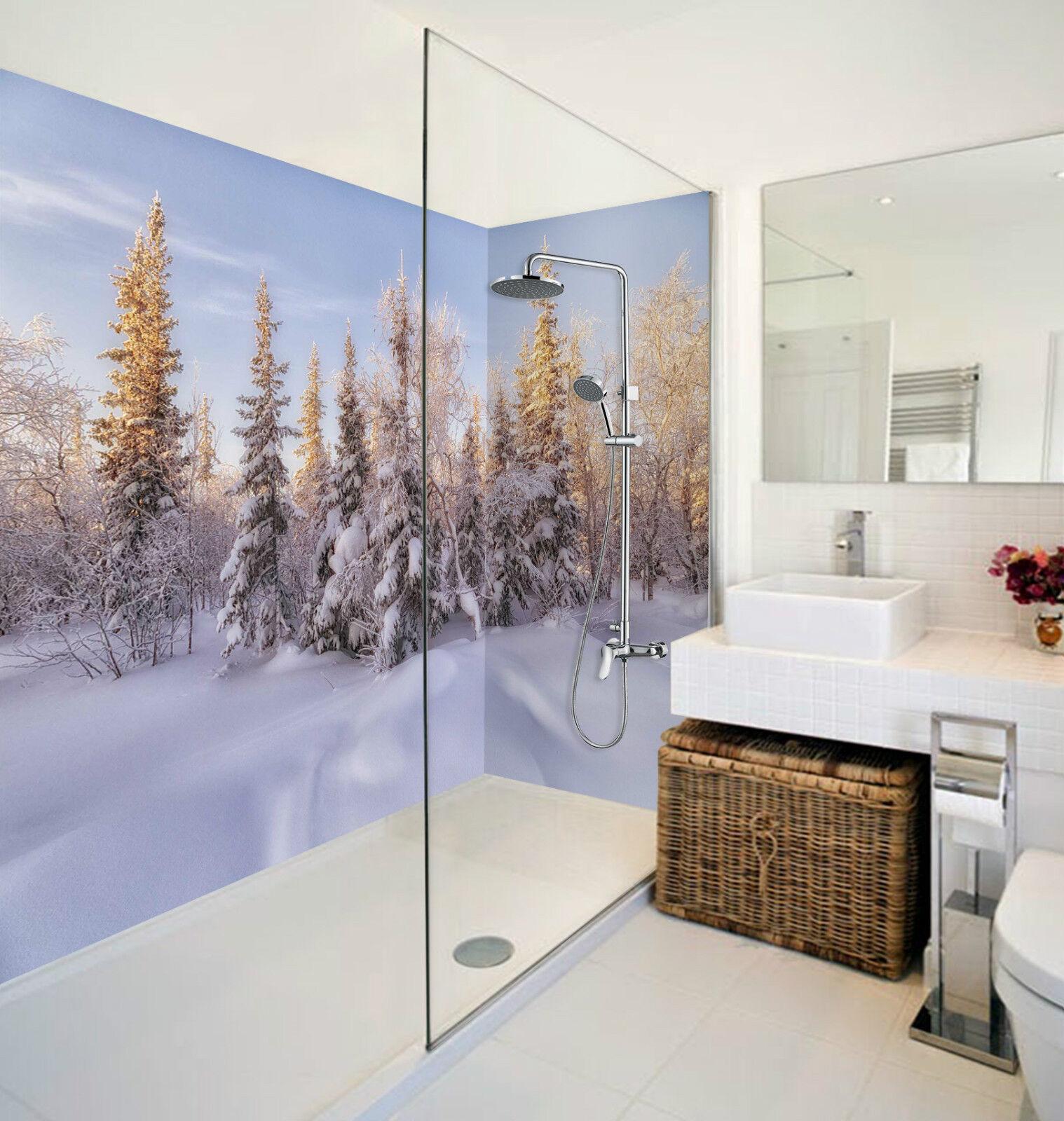 3D Snow Forest 050 WallPaper Bathroom Print Decal Wall Deco AJ WALLPAPER CA