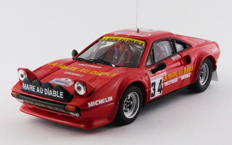BEST MODEL Bes9752 - Ferrari 308 GTB Gr.4 - Tour de France -  34 - 1983   1 43