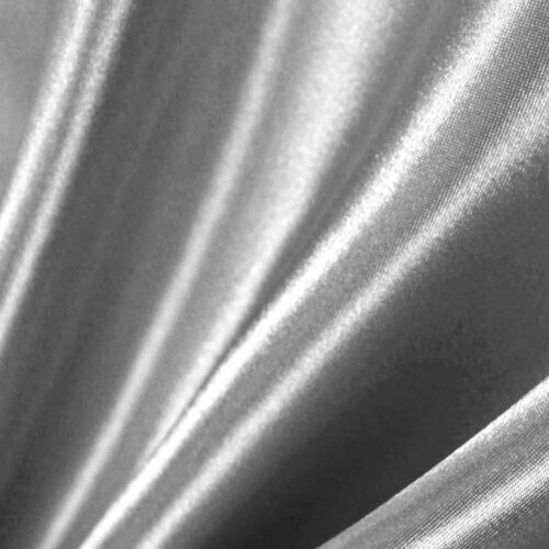 """Silver Satin Charmeuse Medium Weight Shiny Fabric 58/"""" By The Yard"""
