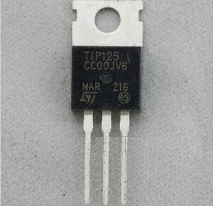10pcs TIP125 Transistor TO-220 ST New