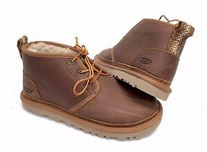 Details about UGG Australia Leather Neumel Chukka Desert Boots Chestnut 1095350 Lace Tasman