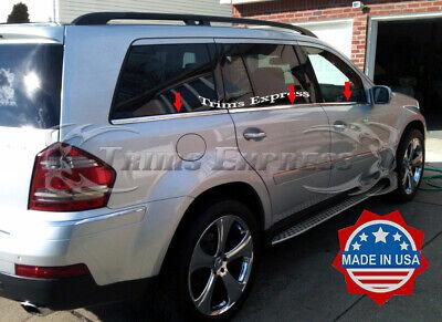 Mercedes X164 GL320 GL350 GL450 Chrome Window Sill Trim Stainless Steel 6PCS