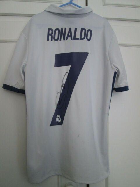 Cristiano Ronaldo Signed Real Madrid 2017 18 Football Shirt With Coa Proof