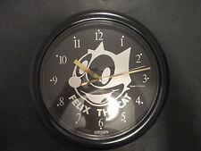New Rare Vintage Citizen Felix the Cat Collector's Wall Clock Black 1986 Battery
