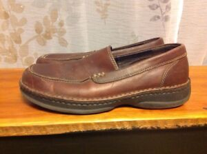 land's end brown leather loafers men's size 105 casual