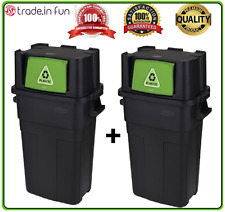 Large Kitchen Trash Can 30-Gallon Recycling Waste Stackable Garbage Bin SET OF 2