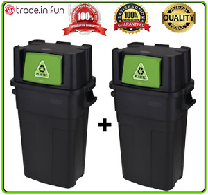 Details about Large Kitchen Trash Can 30-Gallon Recycling Waste Stackable  Garbage Bin SET OF 2