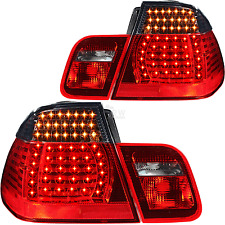 LED Rückleuchten Set 4-Teilig 3er BMW E46 Limousine Bj. 01-05 rot smoke schwarz