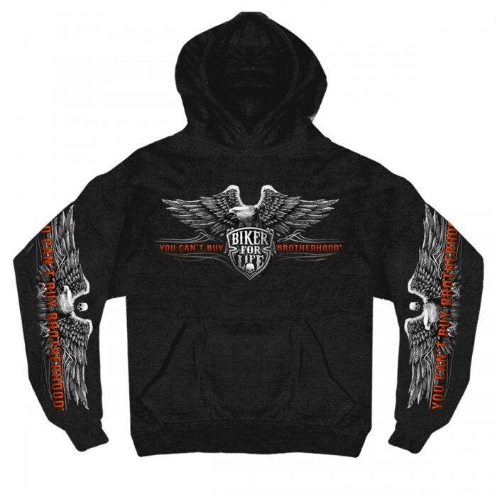 Bredherhood Eagle Hoody Sweatshirt Cotton Longsleeve prints Harley Biker Sweater