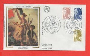 FDC 1982 - Eugène Delacroix - La Libertad Guidant El Popular (1149)