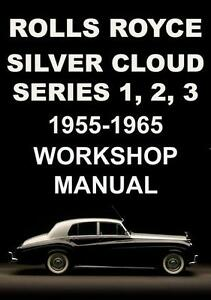 rolls royce silver cloud s1 s2 s3 workshop manual 1955 1965 ebay rh ebay com Bentley S2 Flying Spur 1960 Bentley S2 Saloon