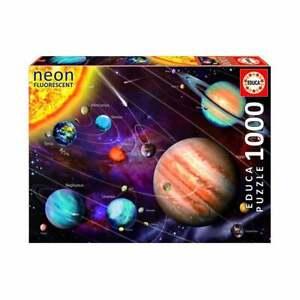Educa-Borras-Neon-Sistema-Solar-Espacio-1000-Pieza-Jigsaw-Puzzle-UG14461